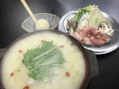 赤沢亭の忘新年会はコラーゲン鍋で!